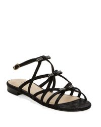 Adrianna Papell | Black Lane Strappy Sandals | Lyst