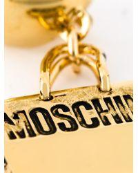 Moschino - Metallic Logo Plaque Earrings - Lyst
