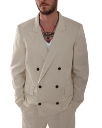 3.1 Phillip Lim - Natural Double Breasted Blazer for Men - Lyst