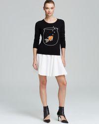 MILLY | Black Sweater Novelty Goldfish | Lyst