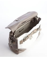 Gryson - White And Grey 'ruby Mixed Media' Bag - Lyst