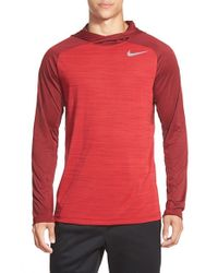 Nike - Red 'windrunner' Dri-fit Hoodie for Men - Lyst