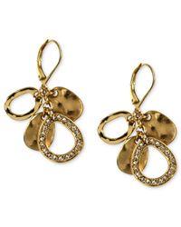 Jones New York | Metallic Gold-Tone Sparkling Cluster Leverback Earrings | Lyst