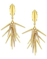 Vince Camuto | Metallic Gold-tone Spike Earrings | Lyst