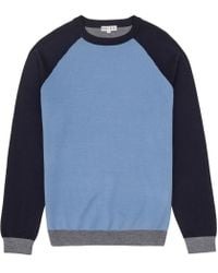 Reiss | Blue Twister Colour Block Jumper for Men | Lyst