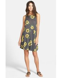 Wildfox | Yellow 'Contempo Sunflower' Sleeveless Dress | Lyst