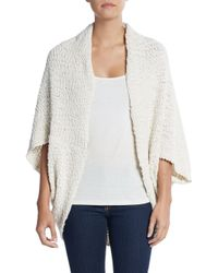 Saks Fifth Avenue | White Cocoon Cardigan | Lyst