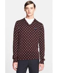 Comme des Garçons | Purple Dot Pattern V-neck Sweater for Men | Lyst