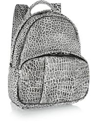 Alexander Wang - Black Dumbo Textured-leather Backpack - Lyst