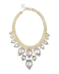 Kendra Scott - Metallic Gretchen Cat's Eye Statement Necklace - Lyst