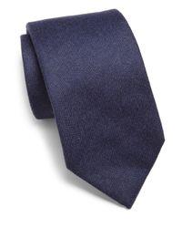 Isaia - Blue Cashmere Tie for Men - Lyst