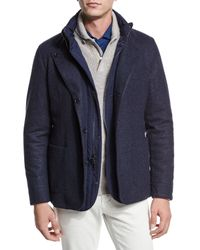 Loro Piana - Blue Reversible Cashmere-nylon Field Jacket for Men - Lyst