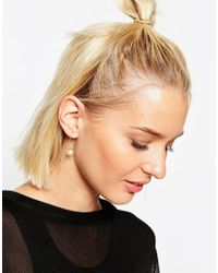 ASOS | Metallic Limited Edition Hex Through Mismatch Earrings | Lyst