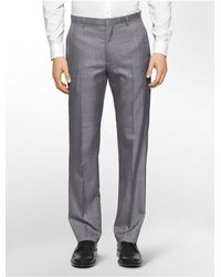 Calvin Klein - Gray White Label Straight Fit Heathered Pants for Men - Lyst