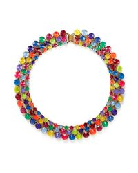 Erickson Beamon | Multicolor 'splash' Multi Strand Crystal Necklace | Lyst