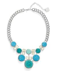 Anne Klein | Blue Stone Frontal Necklace | Lyst