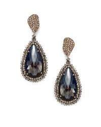 Bavna | Blue Sapphire, Champagne Diamond & Sterling Silver Teardrop Earrings | Lyst
