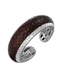 John Hardy - Metallic Palu Wide Silver & Rosewood Cuff for Men - Lyst