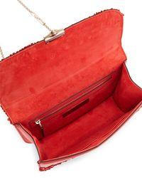 Valentino - Pink Rockstud Appliqué Shoulder Bag - Lyst