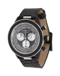 Givenchy | Black Eleven Chronograph Watch | Lyst