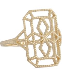 Grace Lee | Metallic Women's Gold Lace Deco Ring Viii | Lyst