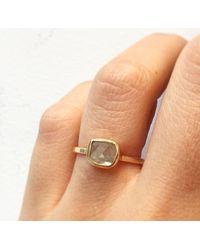 Melissa Joy Manning   Metallic .3 Carat Clear Yellow Diamond Slice Ring   Lyst