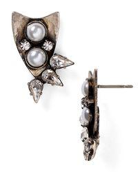 DANNIJO | Metallic Nico Crystal Stud Earrings | Lyst
