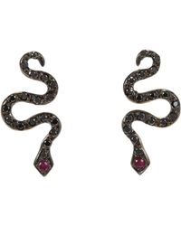 Ileana Makri | Black Little Snake Studs | Lyst