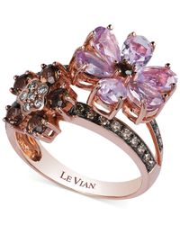 Le Vian - Pink Multi-Stone Flower Ring In 14K Rose Gold (2-1/3 Ct. T.W.) - Lyst