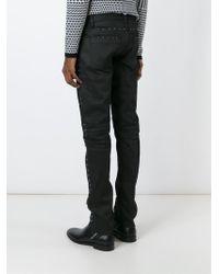 Belstaff | Black Studded Biker Jeans for Men | Lyst