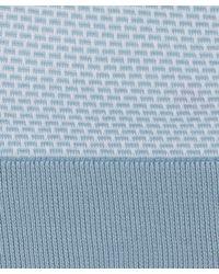 John Smedley - Light Blue Crew Neck Micro Brick Pullover for Men - Lyst