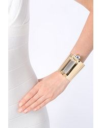Delfina Delettrez - Metallic Silver and Gold Plated Metal Column Bracelet - Lyst