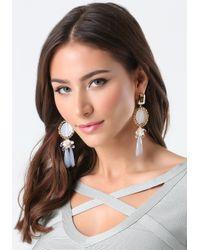 Bebe - Gray Lucite Statement Earrings - Lyst