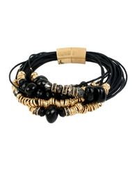 Kenneth Cole | Black Mixed Bead Multi-row Bracelet | Lyst