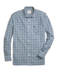 Brooks Brothers - Blue Gingham Sport Shirt for Men - Lyst