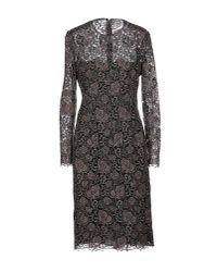 Valentino | Brown Knee-length Dress | Lyst