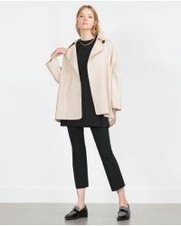 Zara | Natural Hand Made Coat | Lyst