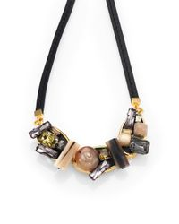 Marni | Multicolor Multi-stone Cluster Necklace | Lyst
