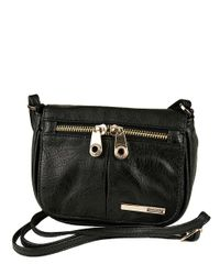 Kenneth Cole Reaction | Black Wooster Street Faux Leather Small Flap Crossbody Bag | Lyst