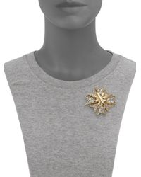 Kenneth Jay Lane | Metallic Multi Cross Pave Pin | Lyst