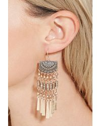 Forever 21 - Metallic Filigree Fringe Drop Earrings - Lyst