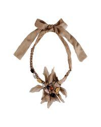 Alberta Ferretti - Natural Necklace - Lyst