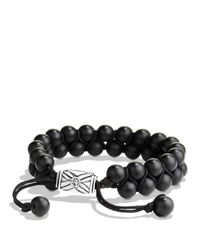 David Yurman | Metallic Spiritual Beads Two-row Bracelet With Black Onyx for Men | Lyst