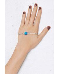 Nasty Gal - Blue Jenny Bird Mood Orb Sterling Silver Palm Cuff - Lyst