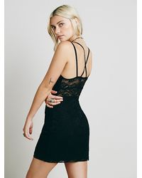 Free People | Black Lacey Day Bodycon | Lyst