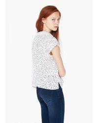 Mango | White Printed Shirt | Lyst