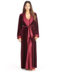 Jonquil | Purple 'taylor' Velvet & Satin Robe | Lyst