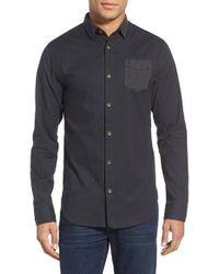 Descendant Of Thieves - Black Slim Fit Oxford Sport Shirt for Men - Lyst
