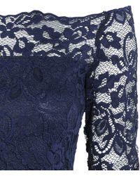 H&M - Blue Off-the-shoulder Lace Top - Lyst