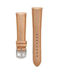 Michele - Pink 20mm Saffiano Leather Watch Strap - Rose Gold - Lyst